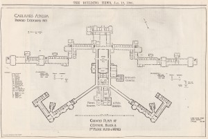 Plan of extensions to main building by G Dale Oliver, December 1902
