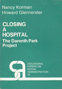'Closing a Hospital: The Dareth Park Project' by Nancy Korman and Howard Glennerster