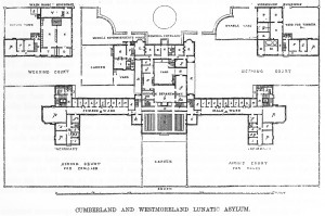Asylum layout as planned by Thomas Worthington.